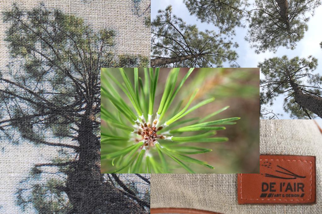 image de présentation des coussins en lin avec impression de photographies.