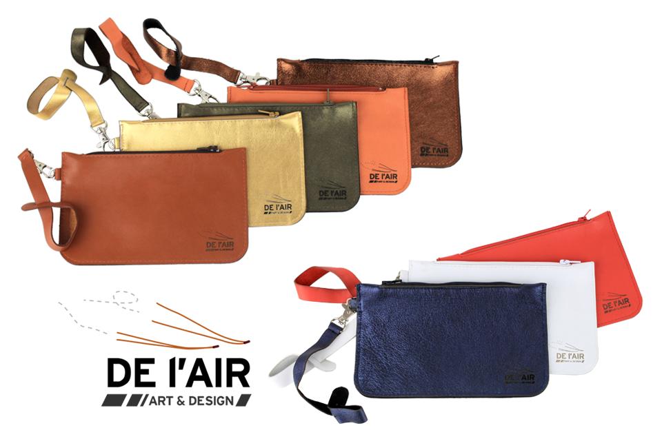 Petites pochettes de sac en cuir personnalisables