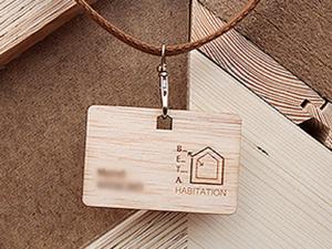 Badge personnalisé en bois