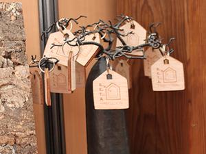 Porte-clefs en bois