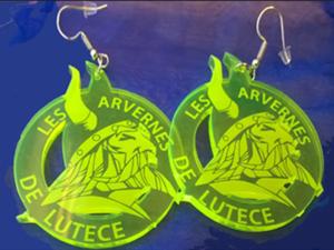 Boucles d'oreilles en plexiglas Arvernes de Lutèce