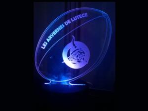 Lampe Led en plexiglas Arvernes de Lutèce