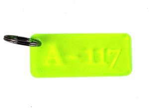 Porte-clef en plexiglas personnalisé pour un hôtel