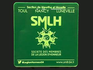 Sous-verre personnalisé pour la Société des membres de la Légion d'Honneur