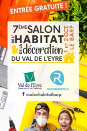 Affiche du salon de l'Habitat et de la Décoration du Val de l'Eyre - 2021